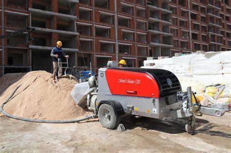 Mortel Meister 6000 Floor Screed Pump With Skip & Scraper
