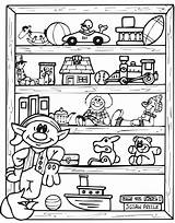 Elf Coloring Shelf Pages Christmas Toy Toys Printable Elves Presents Holiday Elfs Colouring Hubpages Shelves Boys Coloringpages Rocks Halloweenrecipes Adult sketch template