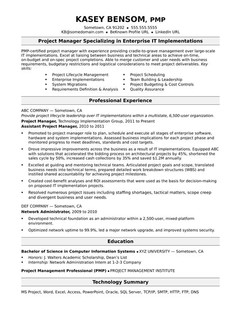 Project Manager Sle Resume Format by Project Manager Resume Summary Mt Home Arts