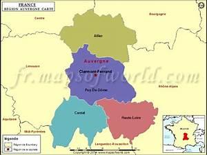Préfecture Clermont Ferrand Carte Grise : carte d 39 auvergne d partement grandes villes en auvergne auvergne 83 ~ Medecine-chirurgie-esthetiques.com Avis de Voitures