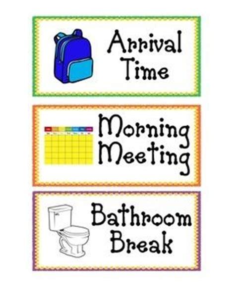 preschool schedule cards daily schedule cards preschool schedule cards and 882