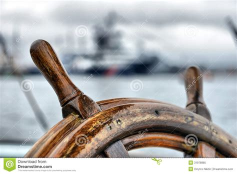 steering wheel sailboat royalty  stock photo image