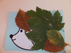Basteln Mit Laub : igel im laub herbstbild von kindern gestaltet ~ Buech-reservation.com Haus und Dekorationen