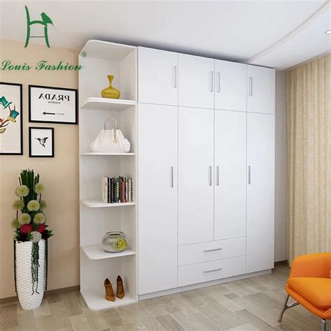 Big Wardrobe by Louis Fashion Simple Modern Economy Bedroom Wooden Four