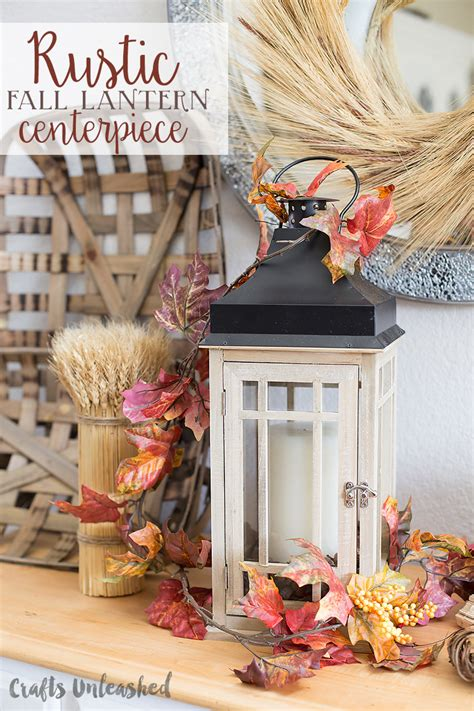 diy fall centerpiece idea with rustic lantern consumer