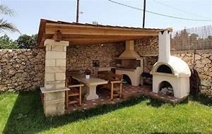 barbecue en pierre pour equiper la cuisine d39ete en 35 With barbecue de jardin en pierre