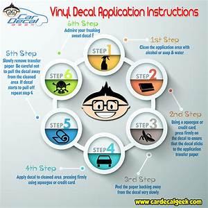 Vinyl Car Decal Sticker Application Instructions