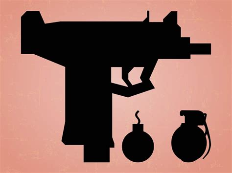 The scalable vector graphics (svg) converter let you convert from almost 130 input formats. Weapons Silhouette Graphics