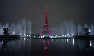 France Paris Pink Lights Eiffel Tower Wallpaper, Desktop ...