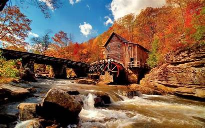Screensavers Fall Desktop Autumn Backgrounds Scene