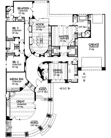 southwest style house plans contemporary southwestern home plan 16370md 1st floor