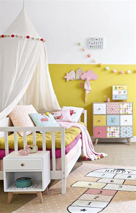 tapis enfant marelle en coton rose  happy maisons du monde