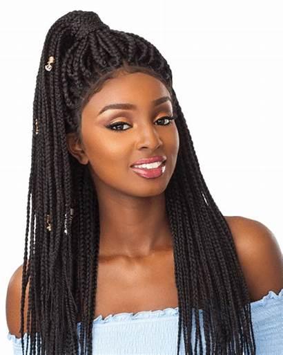 Lace Wig Box Braid Wigs Sensationnel Multi