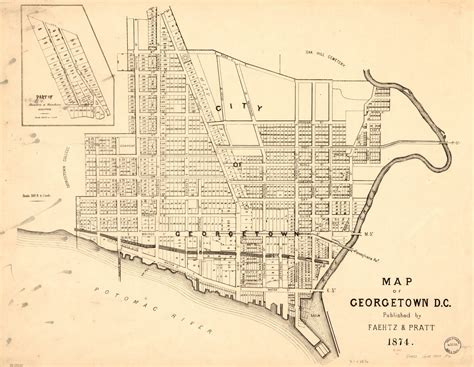 1877 Map of Georgetown Ghosts of DC