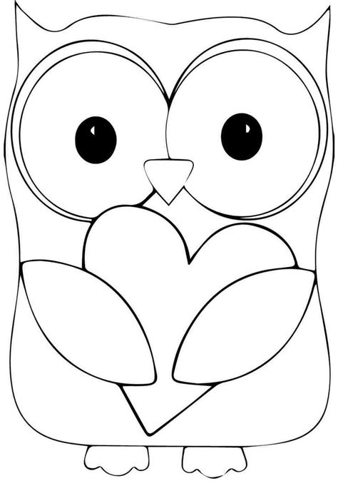 printable animal owl coloring sheets  kindergarten