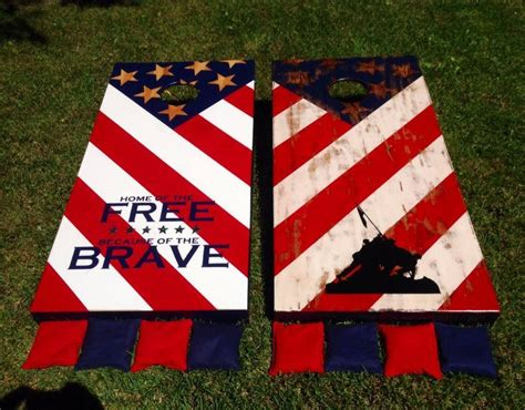 patriotic cornhole boards american flag boards