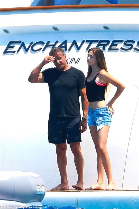 sylvester stallone bikini sylvester stallone s wife looks youthful in bikini as they