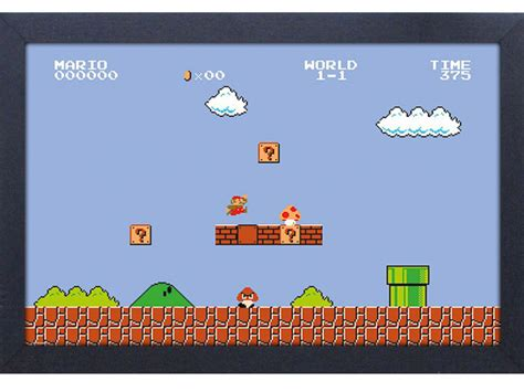 Super Mario Bros Level 1 1 Framed Art Print