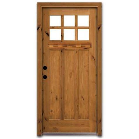 home depot craftsman door steves sons craftsman 6 lite stained knotty alder wood