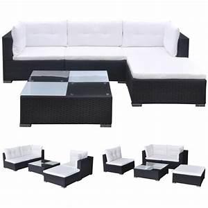 Polyrattan Lounge Set : vidaxl 14 piece garden sofa set black poly rattan ~ Whattoseeinmadrid.com Haus und Dekorationen