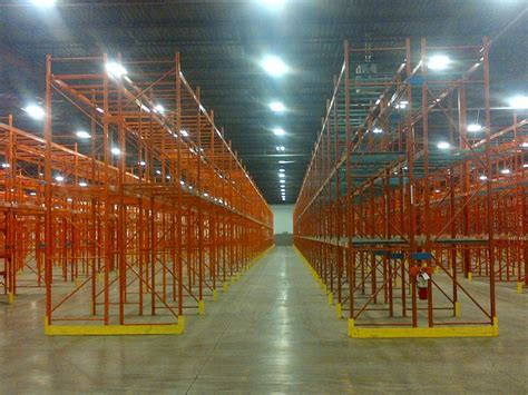 we lots of used pallet racking in stock at our warehouse in toronto