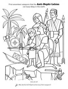 Anti Nephi Lehi Coloring Pages for LDS