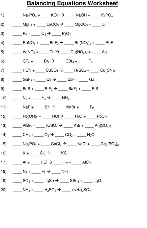 Do You Find Balancing The Chemical Equation A Daunting Task? Download Our Balancing Chemical