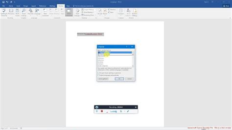 How To Change Language In Microsoft Word 2016 Youtube
