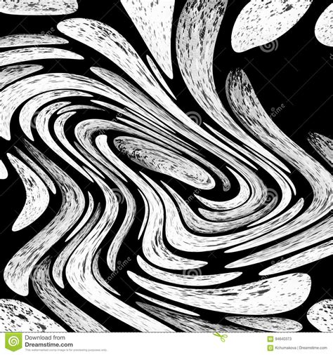 Abstract Black And White Background From Curve Swirl