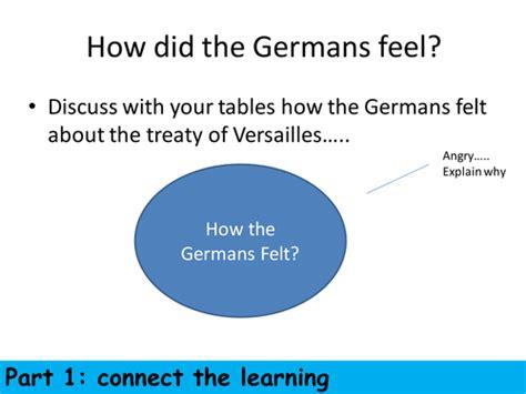 Treaty Of Versailles Source Analysis Lesson Teaching