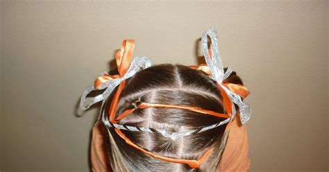 ribbon wrapped hairstyle hairstyles  girls princess