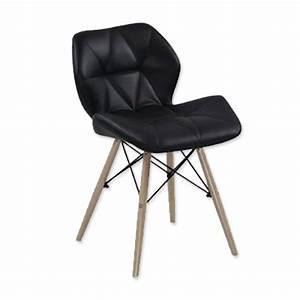 Lot de 4 chaises design ophir noir achat vente chaise for Salle À manger contemporaineavec lot de chaise pas cher
