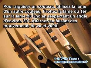 Comment Aiguiser Un Couteau : aiguiser un couteau avec un autre couteau une astuce ~ Melissatoandfro.com Idées de Décoration