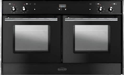 rangemaster toledo freestyle oven black with chrome trim built in range cooker 82100