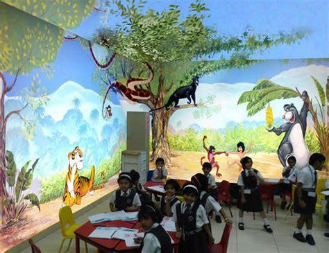 cartoon wall painting  play school  pimple gurav