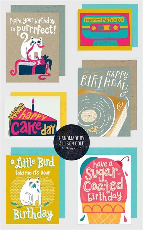 cute illustrated birthday cards  handmade  allison
