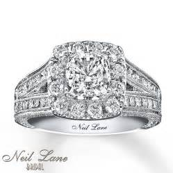 2 ct engagement ring neil engagement ring 2 ct tw diamonds 14k white gold