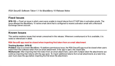 Software Release Notes Template Word by Release Notes Template 14 Free Word Pdf Documents