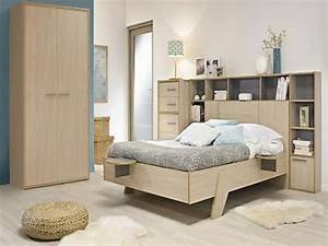 Soldes Tete De Lit : lit avec pont t te de lit rangeante en solde chez alinea ~ Teatrodelosmanantiales.com Idées de Décoration