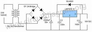 18v Power Supply Using Lm7818 Ic