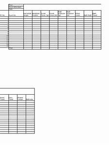 Linen Inventory Sheet