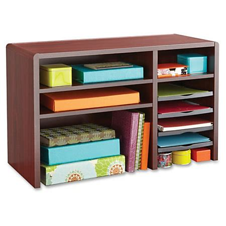 office max desk organizer safco desktop organizer mahogany by office depot officemax