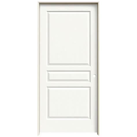 interior doors home depot jeld wen 36 in x 80 in avalon white painted left