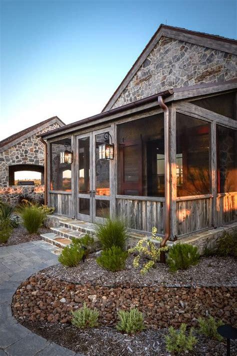 rustic ranch style houston thompson custom homes