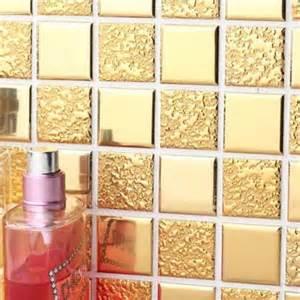 mirrored kitchen backsplash gold porcelain tiles bathroom wall backsplash glazed
