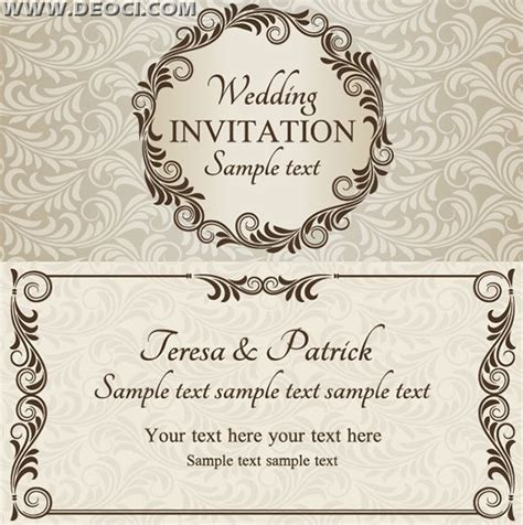 vector wedding invitation design template eps