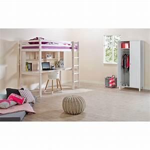 Hochbett 90x200 Weiß : flexa basic hit hochbett gerade l 90x200 wei 319 ~ Indierocktalk.com Haus und Dekorationen