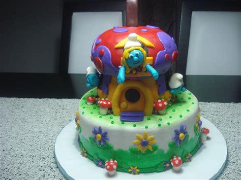 Bolo Os Smurfs!  Rainbow Cakes