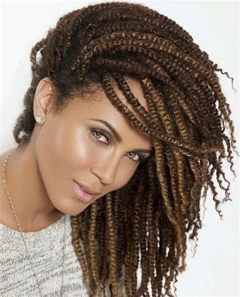 20 Fun Twisted Hairstyles for Natural Hair   African