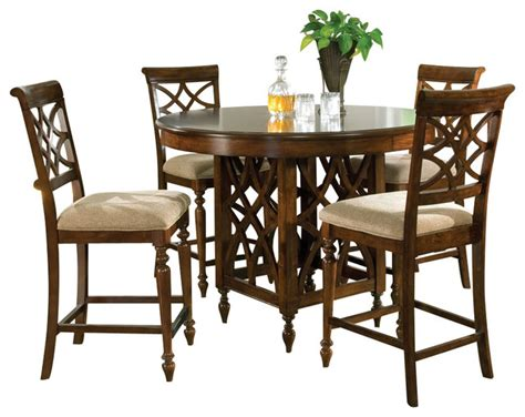 standard furniture woodmont 5 piece counter height dining